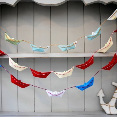 Paper Boat Bunting Garland
