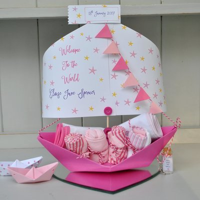Star New Baby Personalised Paper Sail Boat