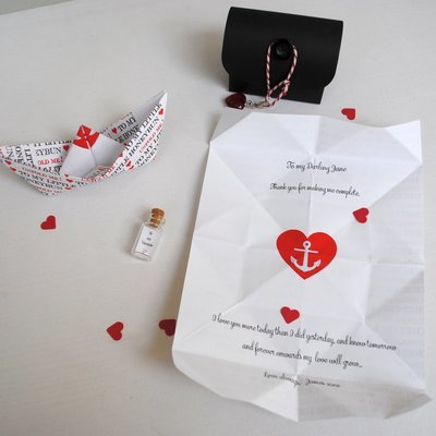 Personalised Love Note Boat In Treasure Chest