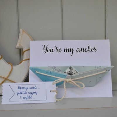 Personalised Note Boat Card