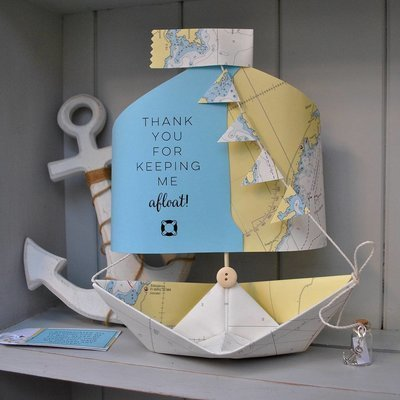 'Thank You For Keeping Me Afloat' Paper Boat Keepsake