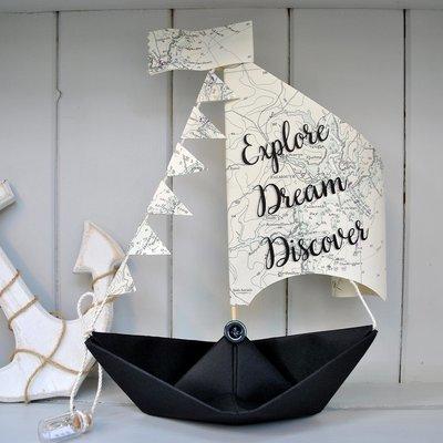 Explore Dream Discover Sail Boat Card