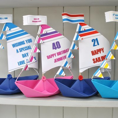 Personalised Racing Sail Boat Card