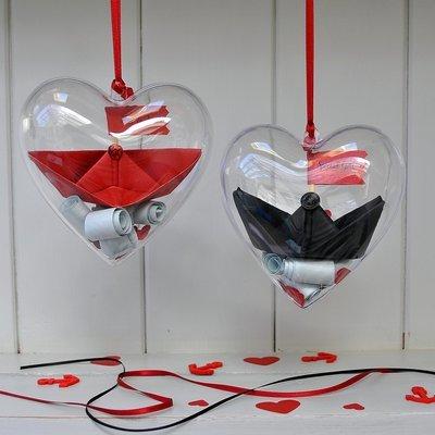 Personalised Love Boat Secret Message Heart
