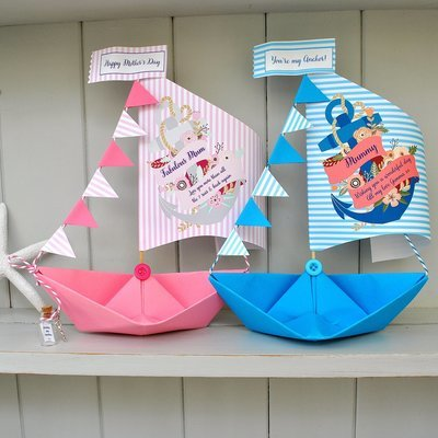 Personalised Anchor Mother's Day Sail Boat Card