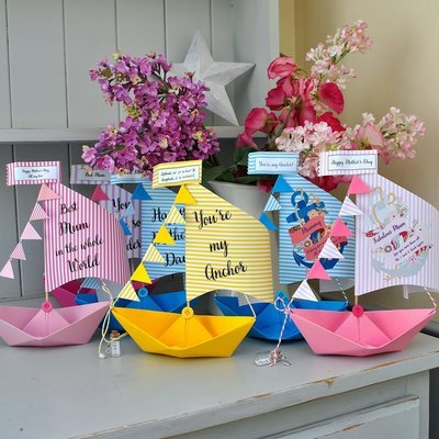 Personalised Mother's Day Sail Boat Card