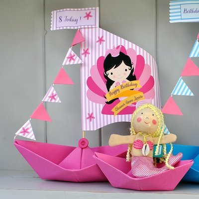 Mermaid Sail Boat Card Keepsake