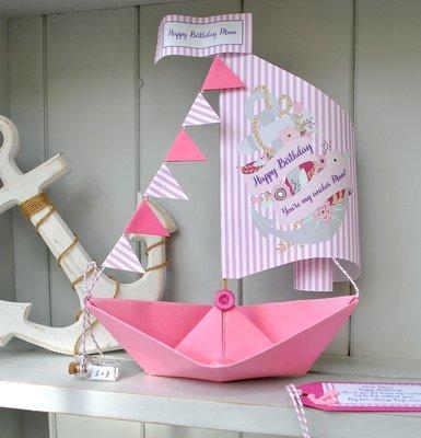 Personalised Anchor Sail Boat Card