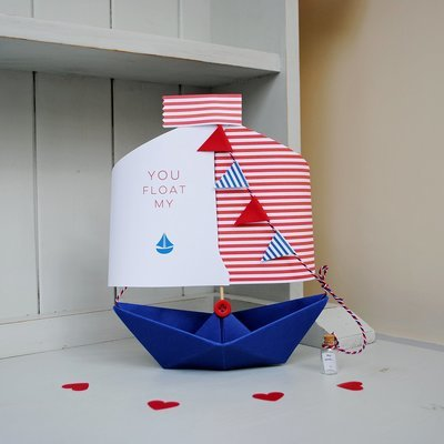 'You Float My Boat' Card Keepsake