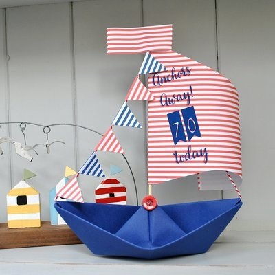 Sail Boat Age Birthday Keepsake