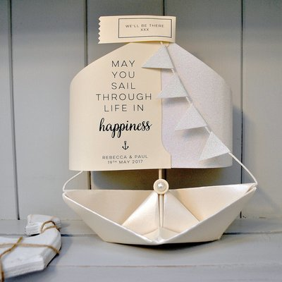 Wedding Paper Boat Card