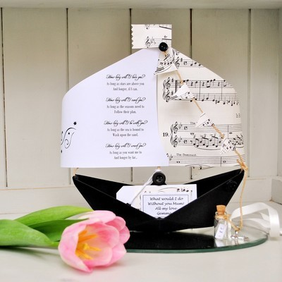 How Long Will I Love You Paper Boat Card