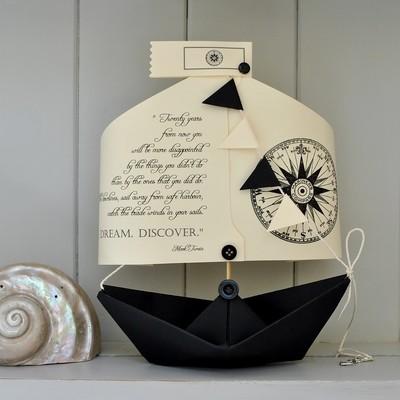 'Explore Dream Discover' Literary Boat Card Keepsake