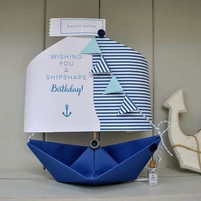 Shipshape Birthday Paper Boat Card