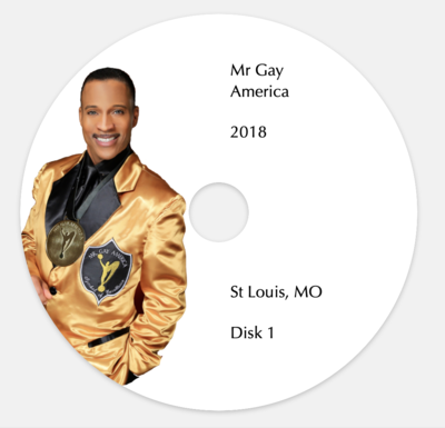 Mr Gay America 2018 (2 DVD's)