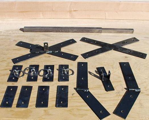 Saint Andrew's Cross Hardware Kit