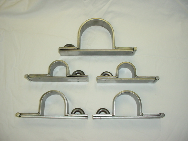 Metal Restraints Rigid Massive Wall Mount 5 piece Set of Dungeon Irons