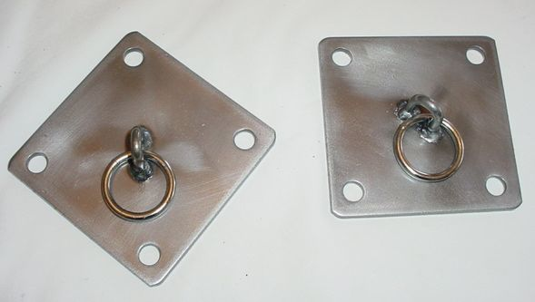 4X4 wall plate with ring,  dungeon irons , bondage equpment