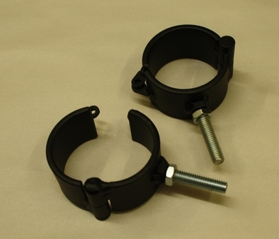 "Shackle Set of Two with 1 3/4"" Bolt 3/8"" Thread Welded to Shackles"