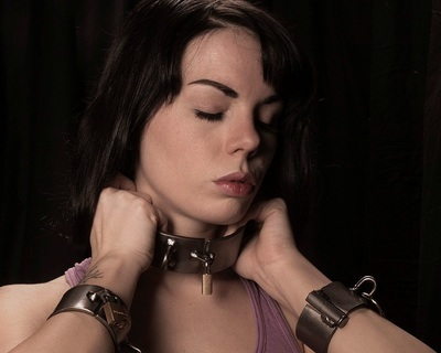 "1 1/2"" Wide Serious Bondage dungeon irons Collars"