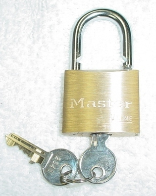 "Master Lock Large Brass,  Keyed Alike For all 2"" wide shackles and cages."