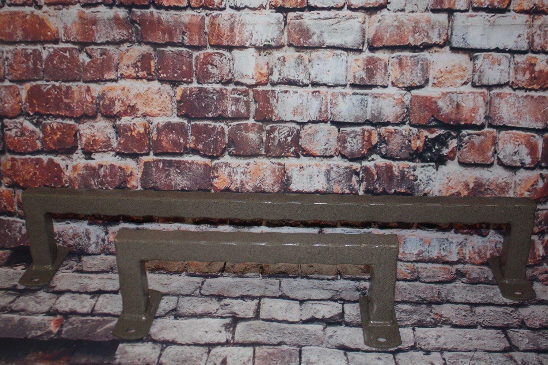 Hammered Steel Towel Rack