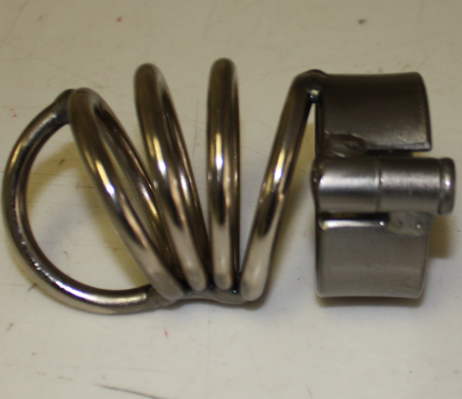 Chastity Device Made of Rings with Shackle