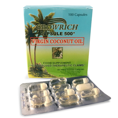 GROWRICH Virgin Coconut Oil (Box of 100 capsules)