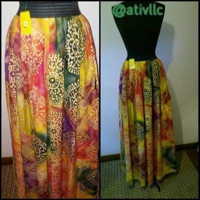 Pinwheel Maxi Skirt