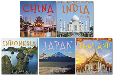 Set: 5 books from the 'Asia For Kids' series