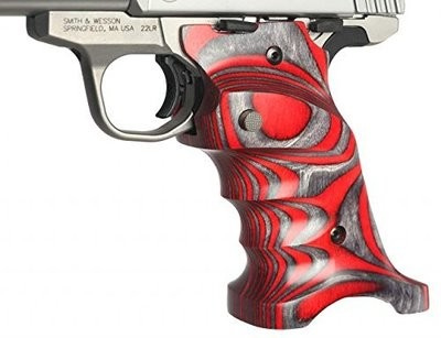 Volquartsen Laminated Wood Grips for the Smith & Wesson Victory .22,  Red,                     VCSWG-R