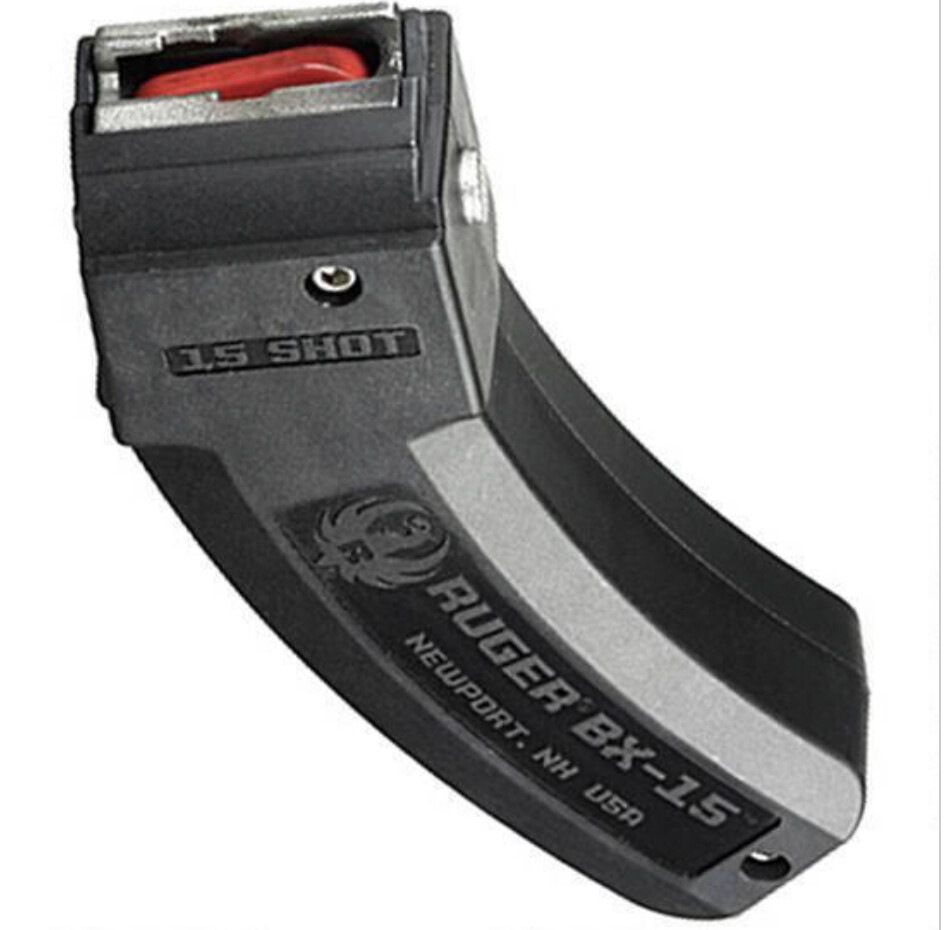 Ruger BX-15 Series Magazine Ruger 10/22 22 Long Rifle Polymer Black 15 Round