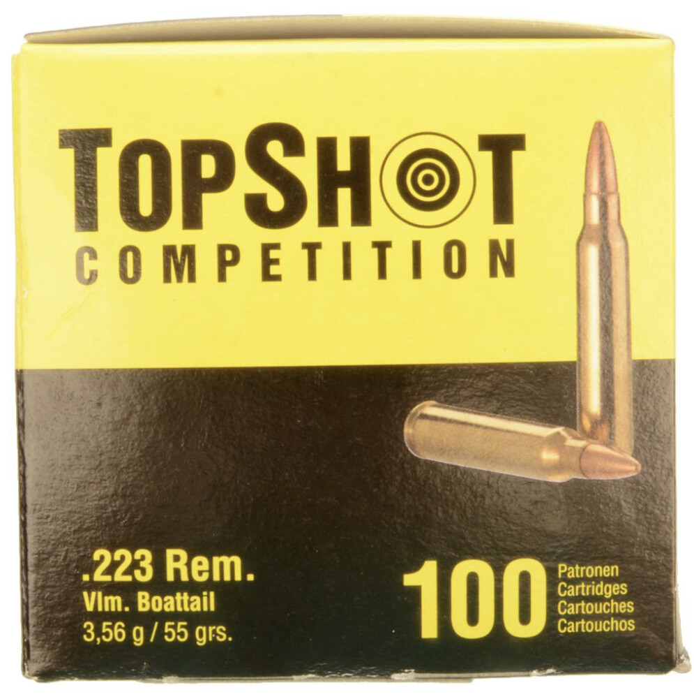 Top Shot Competition - .223 REM, FMJ, 55 Grain - 100 Rounds Box