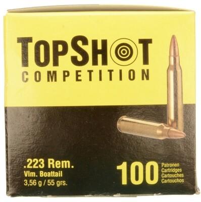 Top Shot Competition - .223 REM, FMJ, 55 Grain - 100 Rounds Box