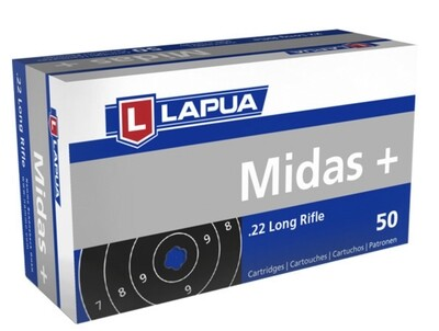 Lapua Midas+ .22 LR box of 50 rounds