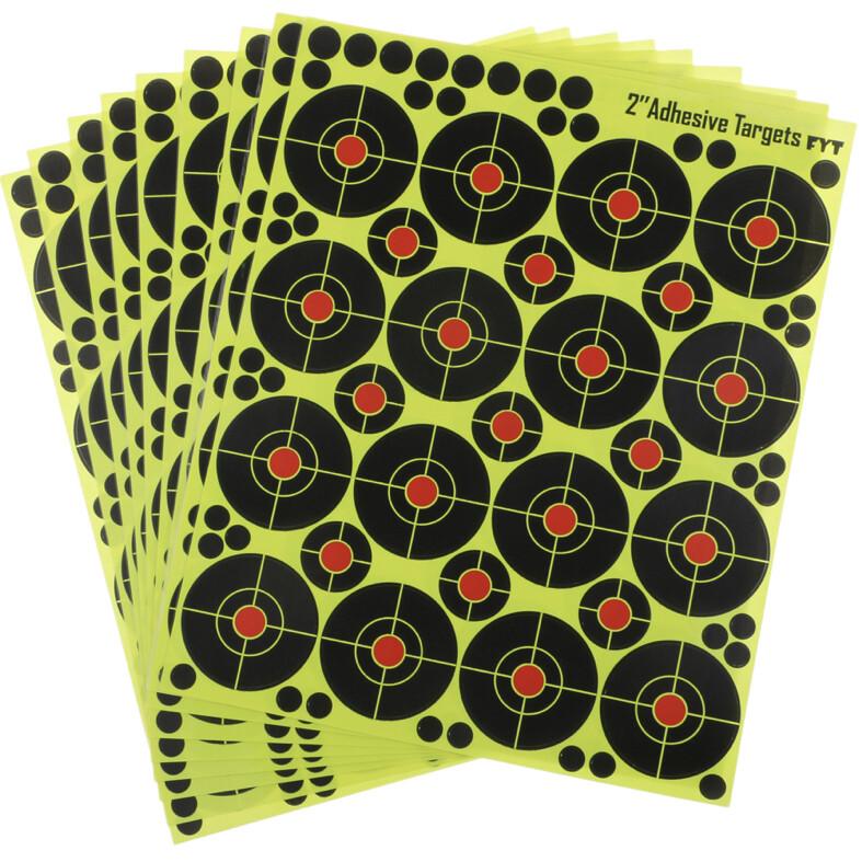 "160 pcs Shooting Targets 2"" Reactive Splatter Glow ,Florescent Paper Target"