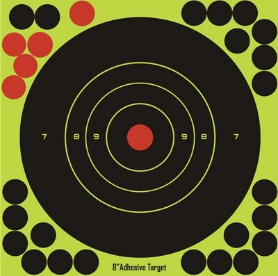20 sticks per pack Splash flower target 8-inch adhesive Reactivity Shoot Target.