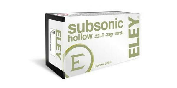 Eley Subsonic Hollow point Box of 50 Rounds