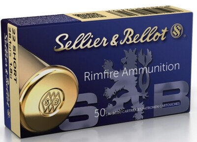 22 SHORT AMMUNITION – SELLIER & BELLOT 28.1g Box of 50