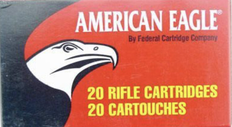 American Eagle . 223 REM, FMJ, 55 Grain - 20 Rounds Box
