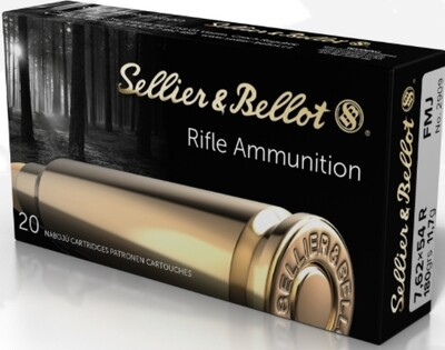 Sellier&Bellot 7,62x54R FMJ 180grs-11,7g 20 round box