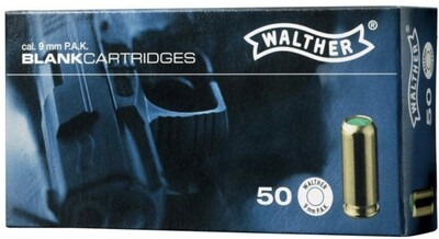 Walther 9mm PAK Blank Rounds ( Requires a license or an authorised letter  to have in your possession)