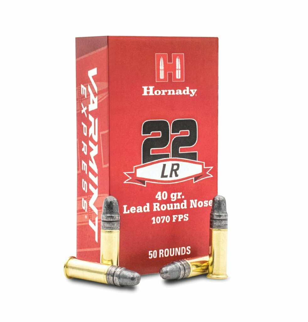 Hornady Lead Round Nose 2LR 40gr  box of 50 rounds