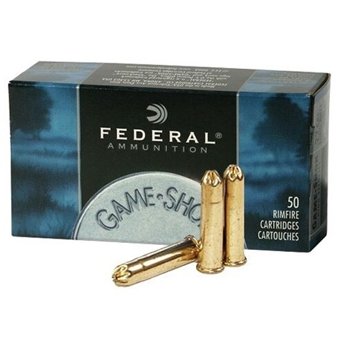 FEDERAL GAME SHOK AMMUNITION 22 LR  25 g  SHOTSHELL, BIRDSHOT 12 LEAD SHOT