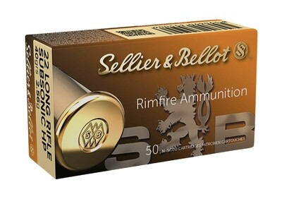 Sellier & Bellot 22 LR Subsonic LNR 40gr box of 50 rounds