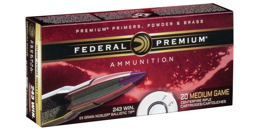 Federal Premium Medium Game Trophy Cooper (Lead Free) 243 Win  85grain, Pack 20 Rounds