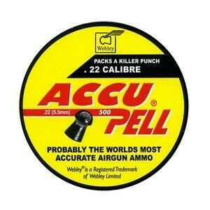 Webley Accupell .22 Pellets x 500. Accupell Domed Pellets.