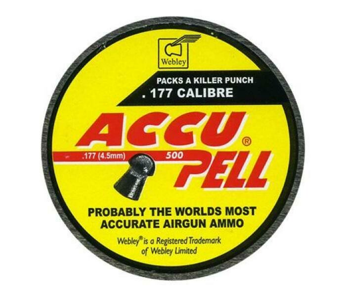Webley Accupell .177 Pellets x 500. Accupell Domed Pellets.