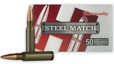 HORNADY 308 WIN 155 GR BTHP STEEL MATCH 50