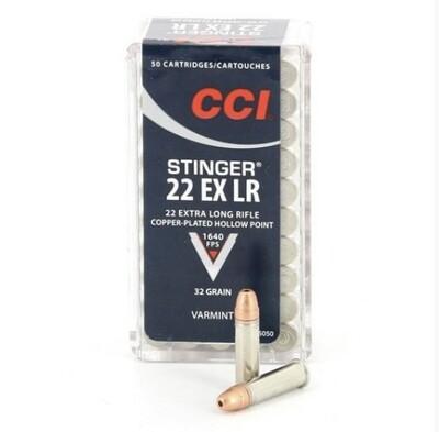 CCI .22 EX LR STINGER  Box of 50